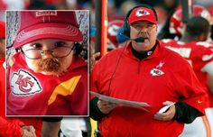 Andy Reid kid Halloween costume; looks just like him