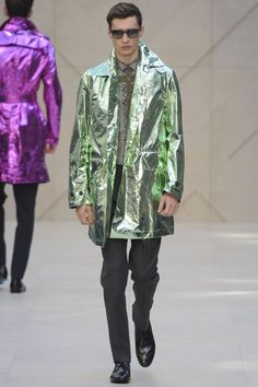 Idk about everyone else but I don't like how Burberry went with these tin foil looking coats.