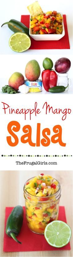 Mango Pineapple Salsa Recipe! ~ from TheFrugalGirls.com ~ go grab the chips... DELICIOUS doesn't even begin to describe how yummy this fresh homemade Salsa is!