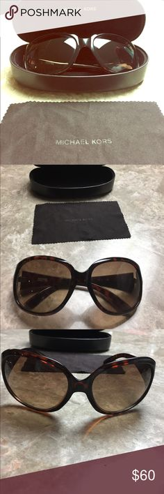 Michael Kors sunglasses Michael Kors tortoise sunglasses. In good condition. No scratches or marks. Only worn a few times. Comes with case and towel cleaner. Michael Kors Accessories Sunglasses