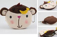 Дешевое Плюшевые хлопок 10 * 10 см любовник банан обезьяна портмоне кошелек чехол сумка ; женщины дамы сумки сумки сумки мешок макияж чехол держатель, Купить Качество Кошельки непосредственно из китайских фирмах-поставщиках:            Дизайн: мультфильм дизайн                   Размер: 10*10 см длина прибл.  Ручное измерение (пожалуйста, позв