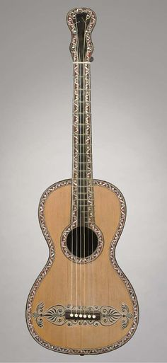 GENNARO FABRICATORE -  A BAROQUE GUITAR, NAPLES, 1819
