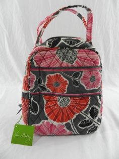 New Vera Bradley Lunch Bunch Bag In Cherry Blossoms NWT Pink Gray Floral  Flowers… Cherry 3a85c093dc722
