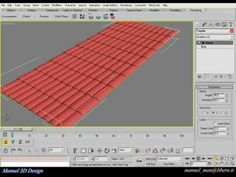 Create roof tiles in 3ds max