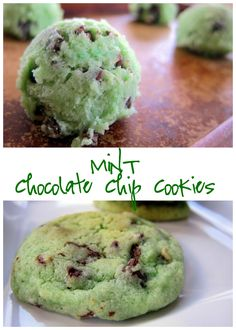 Mint Chocolate Chip Cookies - sugar cookie mix, mint extract, Andes mint and chocolate chips - super quick cookie recipe! Great for St. Raisin Cookie Recipe, Raisin Cookies, Cookie Recipes, Dessert Recipes, Picnic Recipes, Picnic Ideas, Andes Mint Cookies, Mint Chocolate Chip Cookies, Gooey Butter Cookies