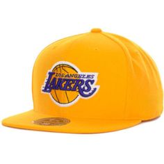 newest 79e0c b77db Los Angeles Lakers fitted hat Mitchell   Ness new with stickers NBA LA