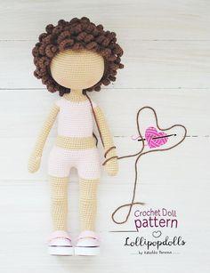 special offer / off / 3 pieces / English amigurumi crochet doll PATTERN, pdf, crochet toy sale, Photo Tutorial / MiLa / Anyuta / Betty Fabric Doll Pattern, Doll Patterns Free, Crochet Dolls Free Patterns, Crochet Doll Pattern, Knitting Patterns, Diy Crochet Doll, Knitted Dolls, Crochet Toys, Free Crochet