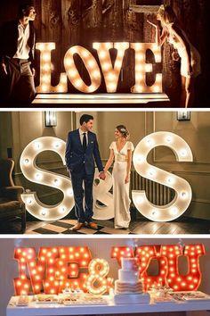 Algo diferente para tu boda cómo un letrero luminoso, ¿Te gusta la idea? #Atrevete #VisteTuEvento vía http://bit.ly/1vCeR26