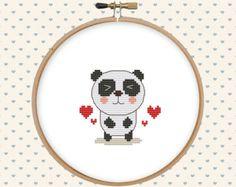 Bear on a bicycle cross stitch pattern pdf par GentleFeather