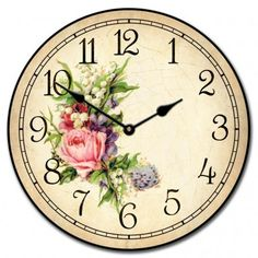 Country Floral Clock