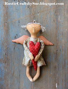 Primitive Angel-Primitive Rag Doll-Primitive Doll-Primitive Heart-Valentine Primitive