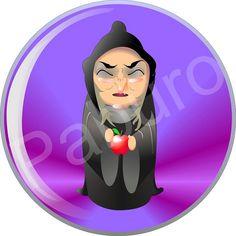 Bruja Blancanieves doll creada para @Pendientera Primera ilustración digital.