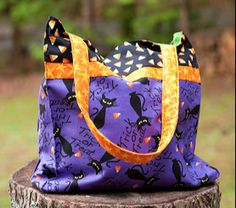 Trick or Treat Bag...sewing instructions and template:)