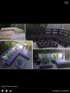 Mobili da giardino con bancali
