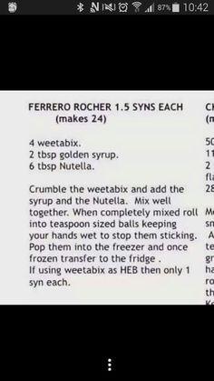 Ferrero rocher 1.5 syns recipie