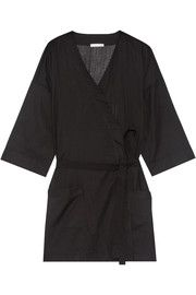 Ryder striped Pima cotton robe
