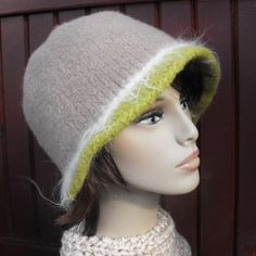 Womens Wool Felted Cloche Hat by maggiesraggedyinn on Etsy, $35.00
