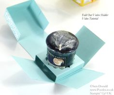 POOTLES Stampin' Up! UK Fold Out Votive Candle Holder Tutorial OPEN   :))