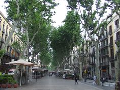 Barcelona's La Rambla district...a weird yet wonderfully unforgettable experience...