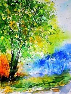 "Saatchi Online Artist: Pol Ledent; Watercolor, 2012, Painting ""watercolor 218060"""