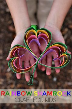 This easy Rainbow Shamrock craft for kids is a perfect way to get little ones excited about St. Patrick's Day!