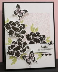 Amazing! Love this card! - Sincerely Yours (Kristii): Make it Monday Challenge - PTI Pretty Peonies