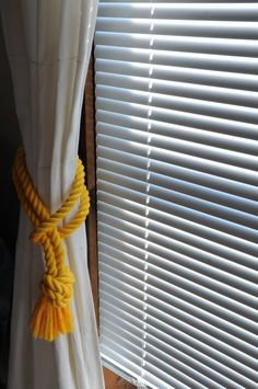 Nautical Decor  Yellow Cotton Rope  Rope Curtain by OYKNOT on Etsy