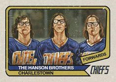 Hockey,IceHockey-Greatest line ever assembled! 👊🏻👊🏻👊🏻Double tap for the Hanson bros! Card Hockey IceHockey Good Fight Flick Slapshot Get Hockey Cards, Baseball Cards, Nfl Highlights, Hanson Brothers, Slap Shot, Boston Bruins Hockey, Player Card, Sports Figures, Sports Art