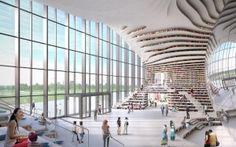 The Tianjin Binhai Library by MVRDV  #design #minimal