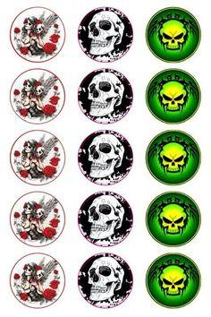 Skulls Bottle Cap Images