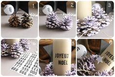 Et au centre de la table, une bougie... - Avec ses 10 ptits doigts - blog DIY