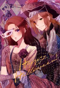 Tags: Anime, Halloween, Axis Powers: Hetalia, Hanezu, Germanic Countries, Hungary (Male), Austria (Female)