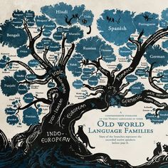 Comic Artist Maps the History of Languages with an Illustrated Linguistic Tree