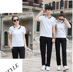 CC01157 Summer sports sportswear Casual run couple clothes a set