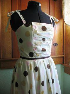 Sample SALE Polka Dot Sun Dress by cherrypievintage on Etsy, $90.00