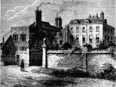 An poster sized print, approx (other products available) - The home of the TRADESCANT family, and later Ashmole, in south Lambeth, London. Date: century - Image supplied by Mary Evans Prints Online - Poster printed in the USA Fine Art Prints, Framed Prints, Canvas Prints, London Drawing, London History, Old London, Photographic Prints, Wonderful Images, 17th Century