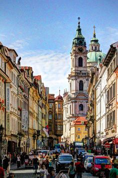 Street in Prague, Czech Republic