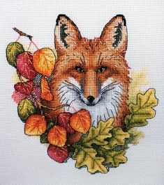 "Finished work by pattern ""Autumn Fox"" #sa_stitch #sa_pattern #pattern #crossstitch"