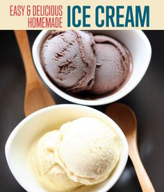Homemade Ice Cream Recipe DIY Projects Craft Ideas & How To's for Home Decor with Videos An easy homemade ice cream recipe to trump all homemade ice cream recipes. No ice cream maker? No problem. This homemade ice cream recipe doesn't need one. Easy Ice Cream Recipe, Making Homemade Ice Cream, Diy Ice Cream, Ice Cream At Home, Ice Cream Treats, Ice Cream Maker, Ice Cream Recipes, Easy Homemade Recipes, Homemade Desserts
