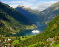 Norway.  Right there was where our cruise ship docked.  Heaven on Earth!