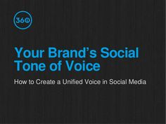 how-to-develop-your-brands-social-tone-of-voice by 360i via Slideshare