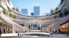 INPLACE | Architectural Visualization | Visual Communication Mall Design, Tower Design, Masterplan Architecture, Guiyang, Commercial Street, Visual Communication, Exterior, World, Galleries
