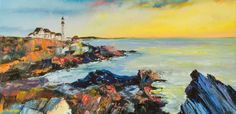 """Lighthouse"" Size: 70x50 cm. (2012)  Oil, Italian canvas, palette knife."