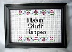 PDF/JPEG Makin Stuff Happen Pattern by katiekutthroat on Etsy, $3.50