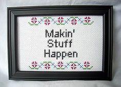 PDF/JPEG Makin Stuff Happen Pattern by katiekutthroat on Etsy, $3.50