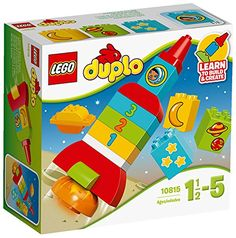 Learn to build and create by stacking chunky LEGO DUPLO bricks to make a colorful rocket and a planet-there are building cards inside for inspiration. Encourage role play and help your child to develo...