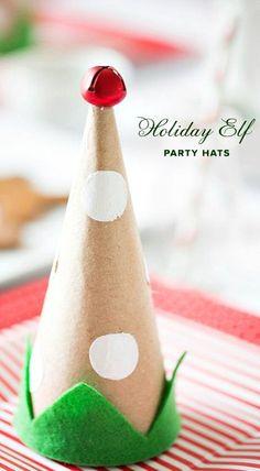 DIY Holiday Elf Party Hats