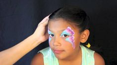 Easy Butterfly Face Painting Tutorial - Color Me Face Painting Vanessa Mendoza