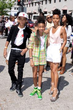 Jaden and Willow Smith at the 2011 White House Easter Egg Roll