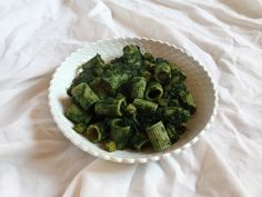 Lacinato Kale Mezzi Rigatoni with Butternut Squash // Mezzi rigatoni al cavolo nero con zucca butternut
